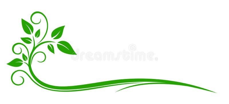 植物商标 库存例证