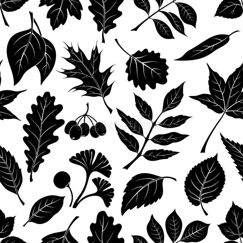 植物图表叶子,无缝 皇族释放例证