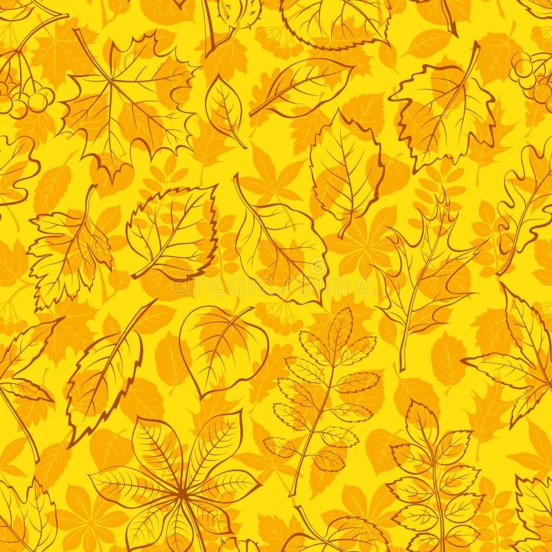 植物图表叶子,无缝 库存例证