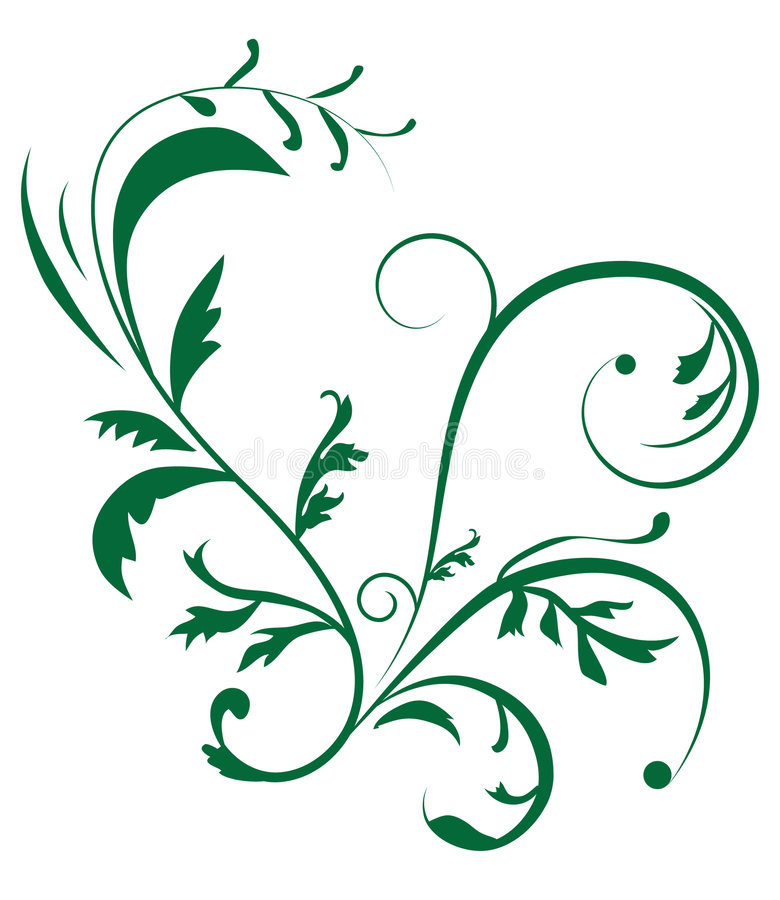 植物抽象背景的装饰品 向量例证