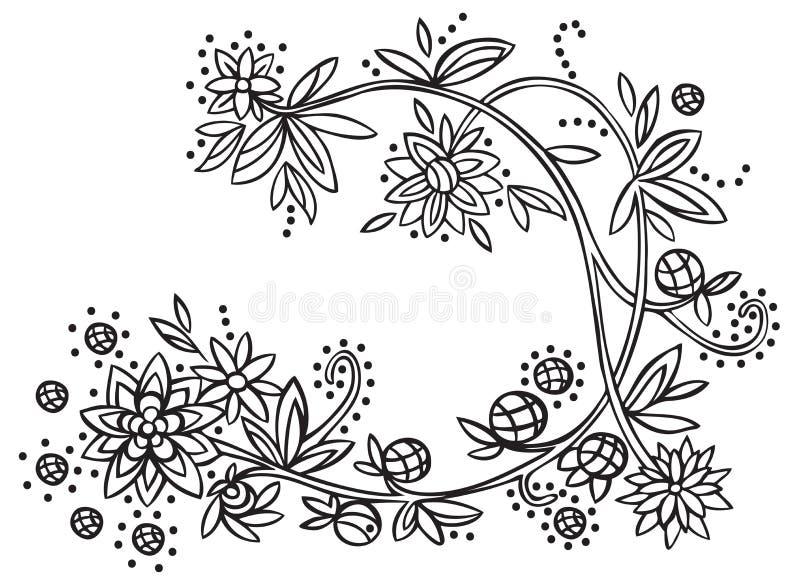 植物生长的装饰品花 皇族释放例证