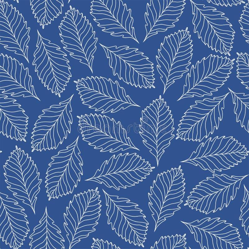 植物的传染媒介无缝的样式 装饰纹理背景08 库存例证