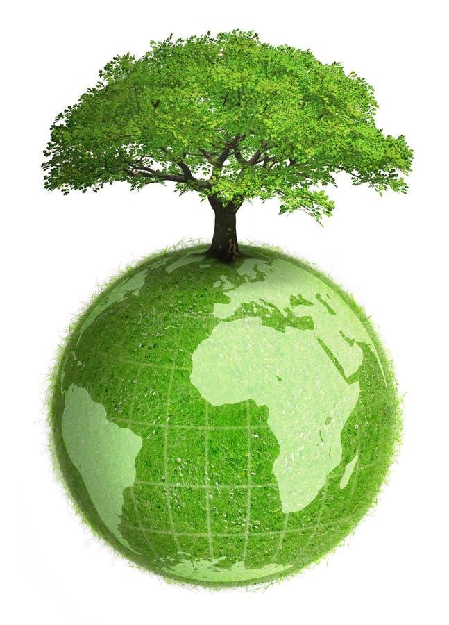 植物的地球 向量例证
