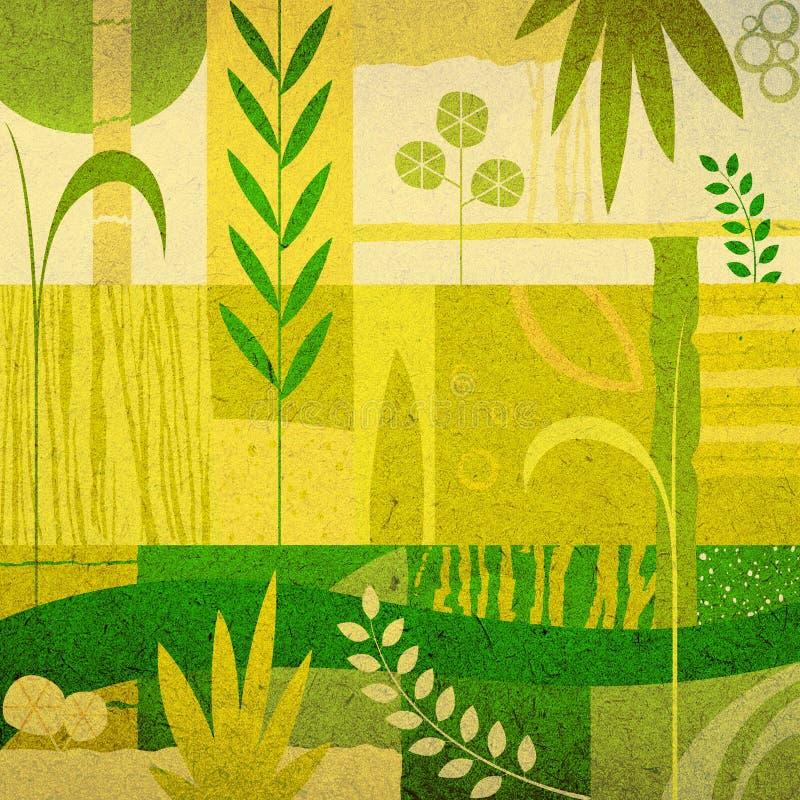 植物的背景 库存例证