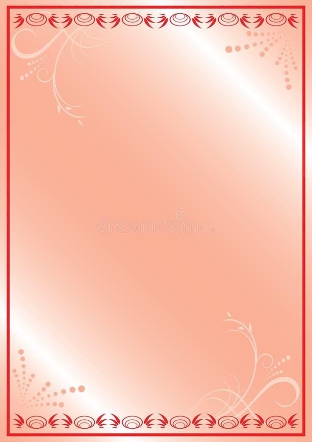 植物群框架粉红色浪漫向量 库存例证