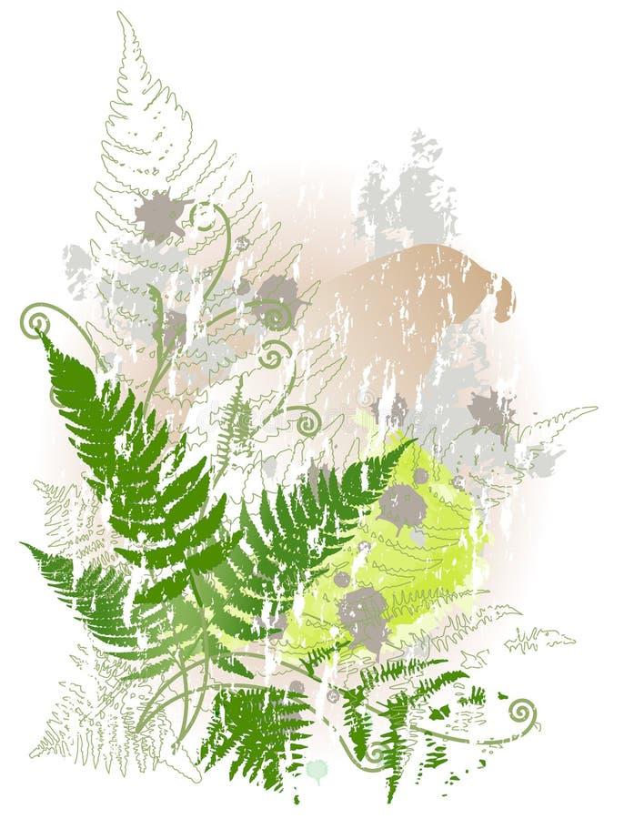 植物群模式 库存照片