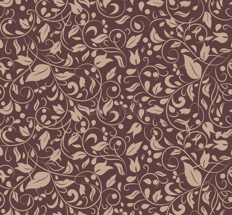 植物装饰品无缝的纹理  皇族释放例证