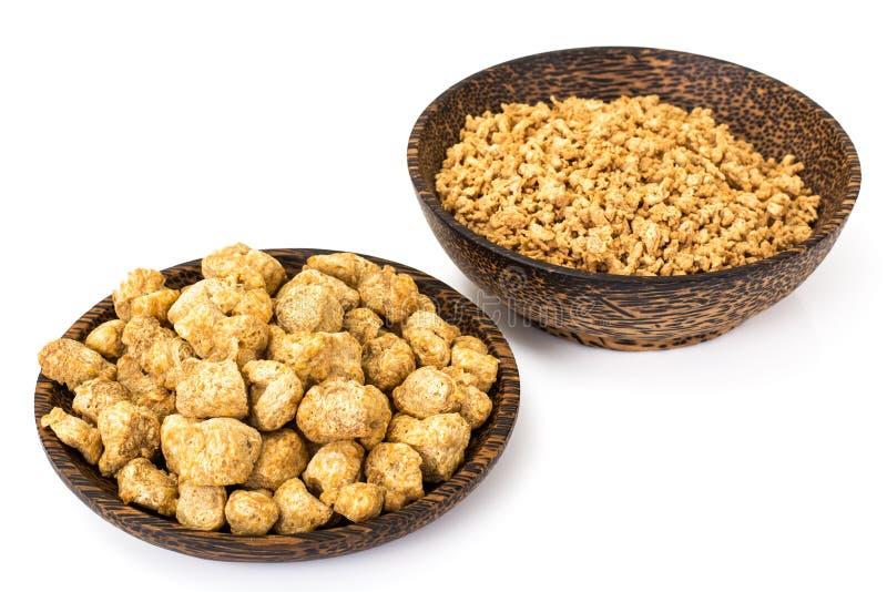 植物组织蛋白,素食饮食的大豆肉 免版税图库摄影