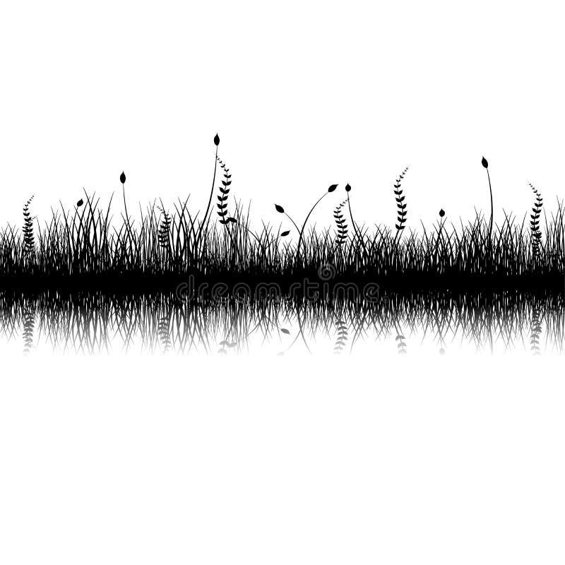 植被剪影 库存例证