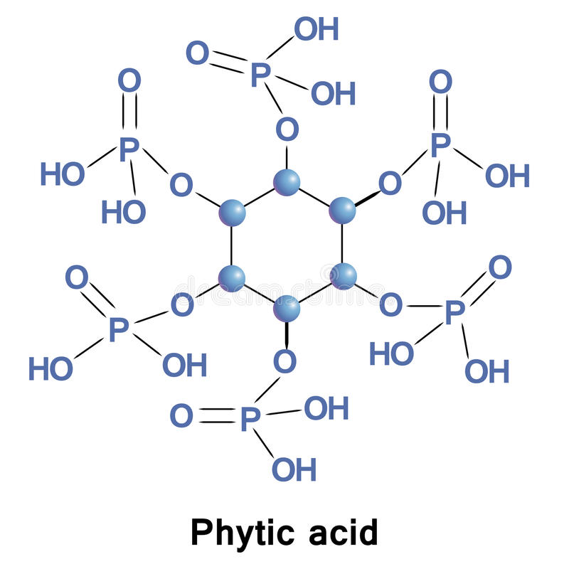 植酸磷 库存例证