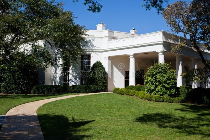 椭圆形办公室-白宫 免版税库存图片