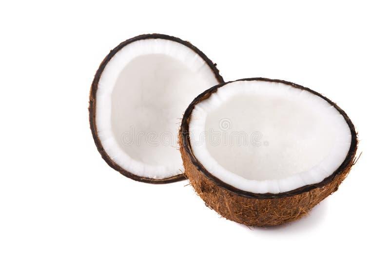 椰子一半 库存图片