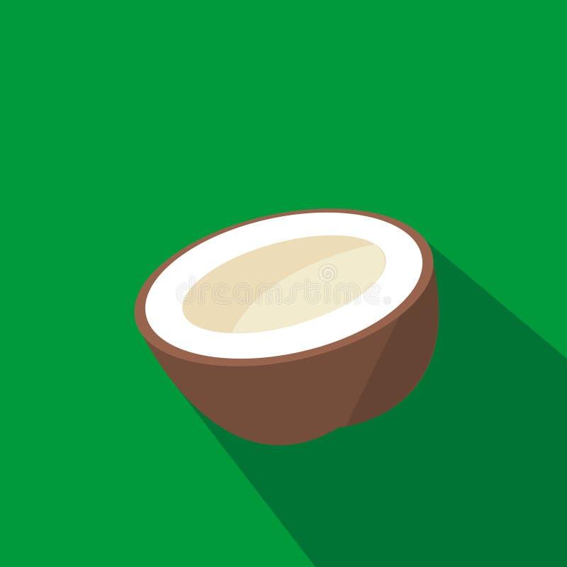 椰子动画片平的象 面包渣 也corel凹道例证向量 库存例证