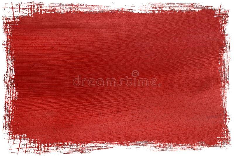 椰子塑造了外形grunge纸红色 免版税库存照片