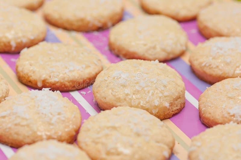 椰子曲奇饼。 免版税库存图片