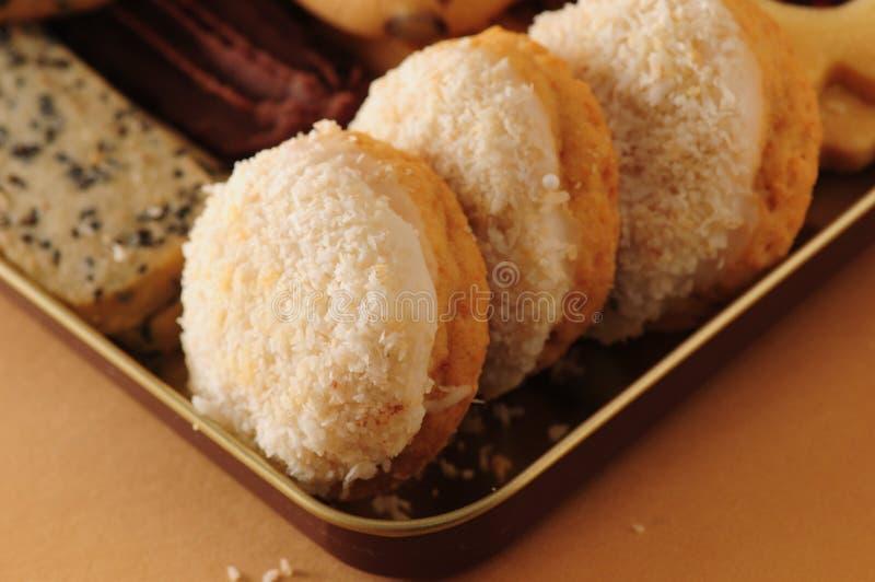 椰子曲奇饼点心做泰国传统 库存图片