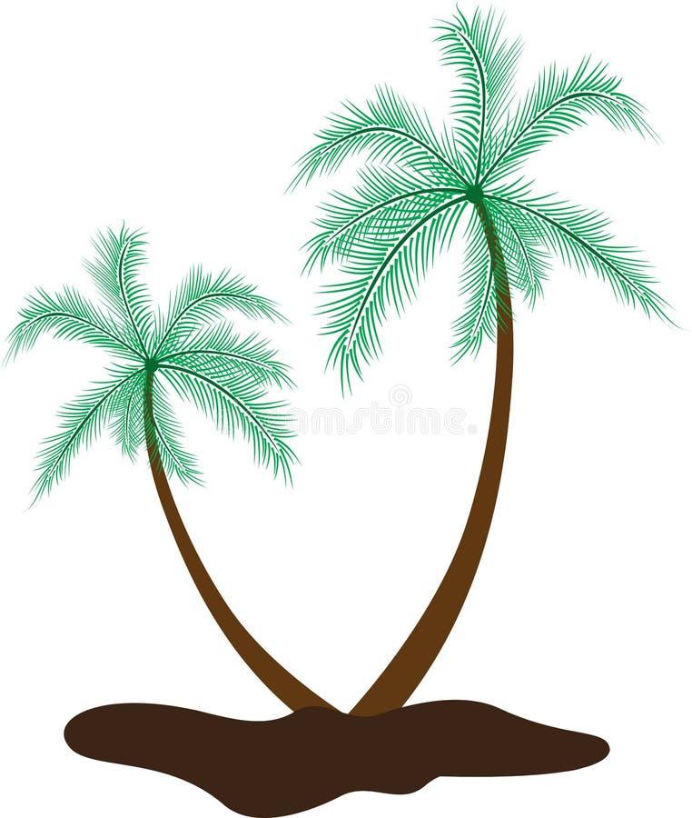 椰子树 皇族释放例证