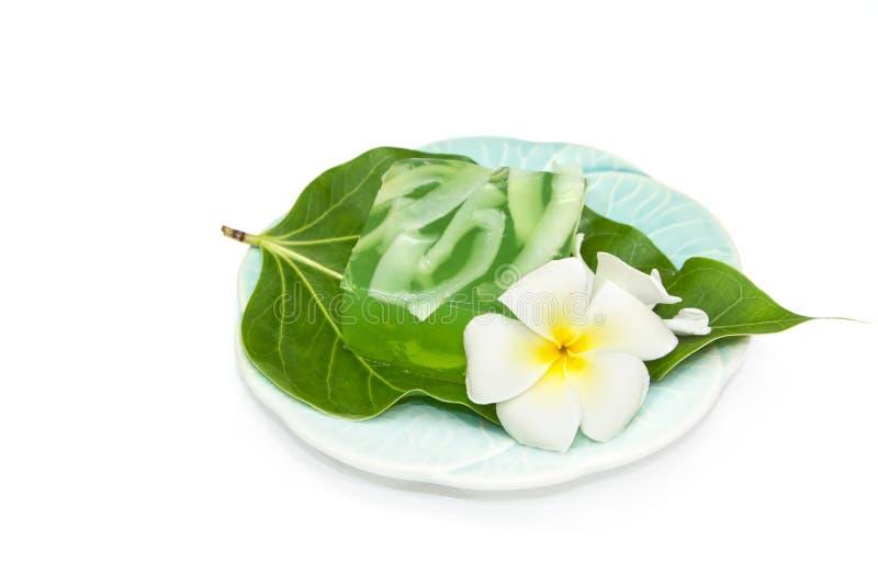 椰子点心泰国果冻的壳 免版税库存图片