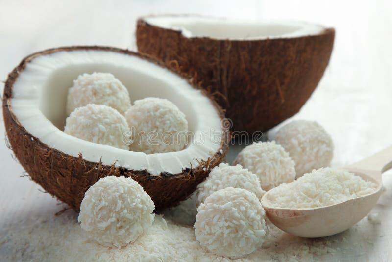 椰子糖果 库存图片