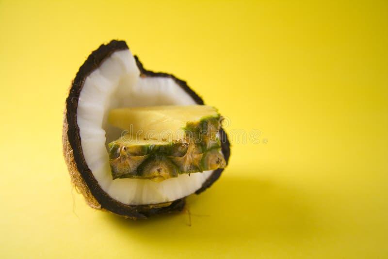 椰子菠萝 库存图片