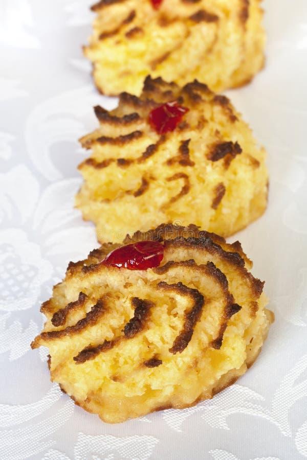 椰子蛋白杏仁饼干 免版税库存照片