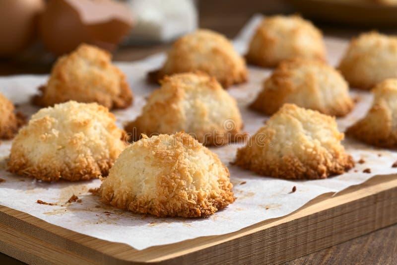 椰子蛋白杏仁饼干 库存图片