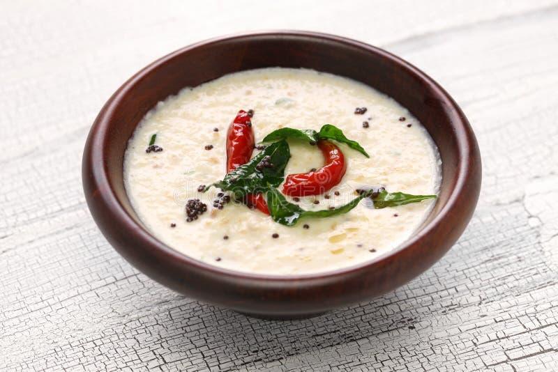 椰子酸辣调味品,印地安食物 免版税库存图片