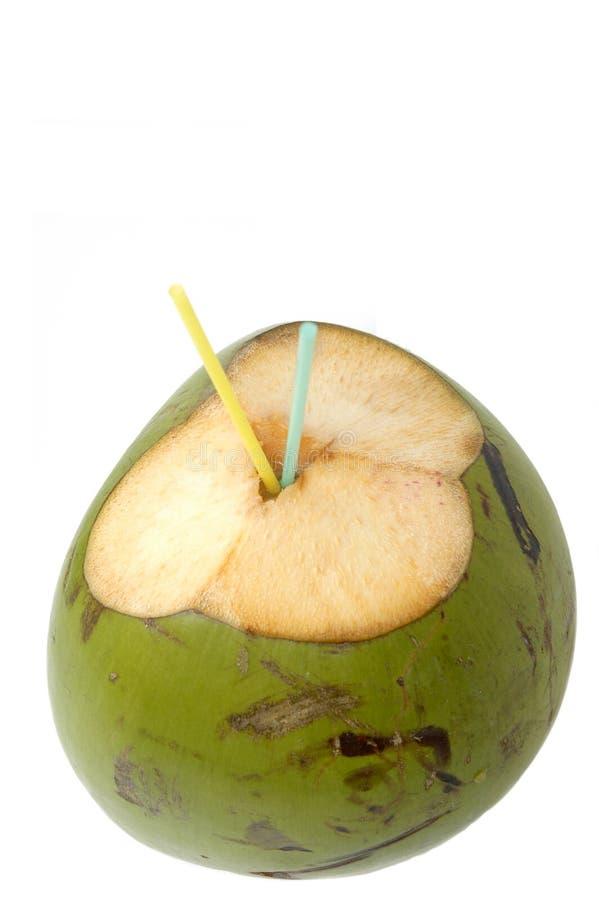 椰子饮料水 免版税库存照片