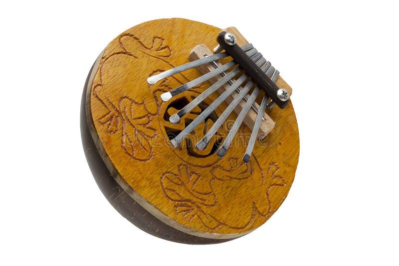 椰子Kalimba拇指钢琴 库存照片