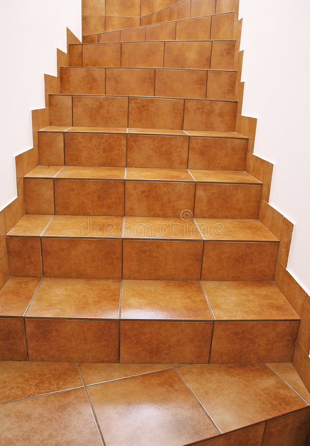 楼层台阶瓦片 免版税库存照片