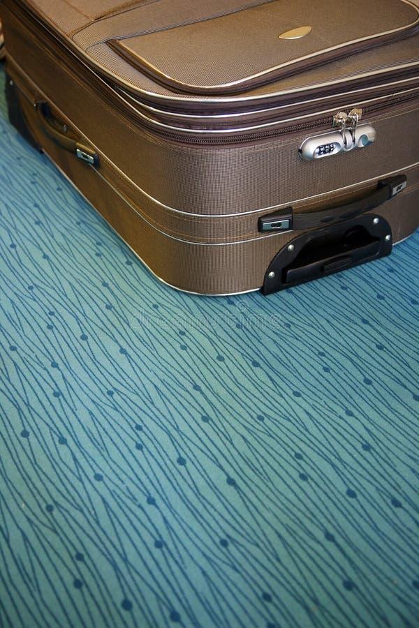 楼层旅馆手提箱 库存照片
