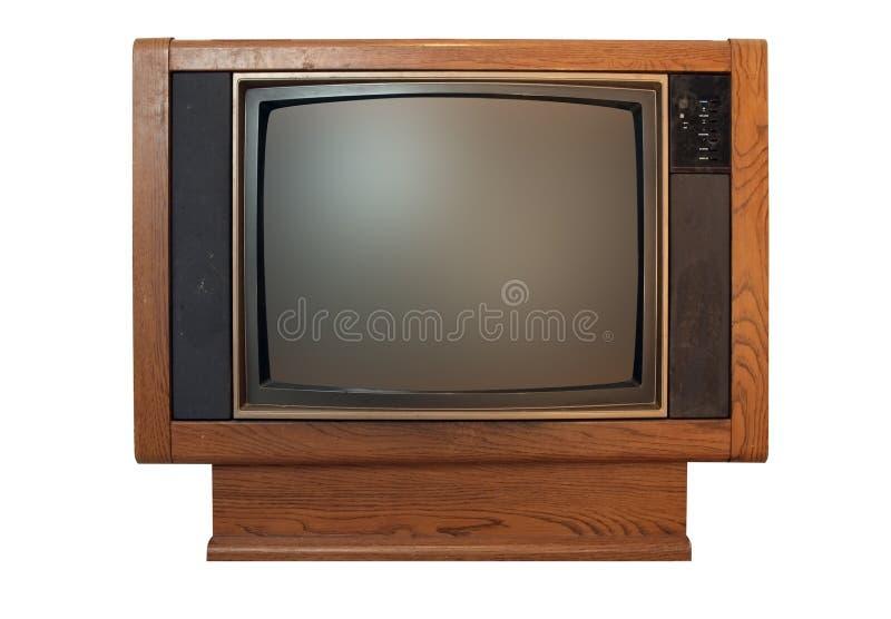 楼层模型电视葡萄酒 库存照片