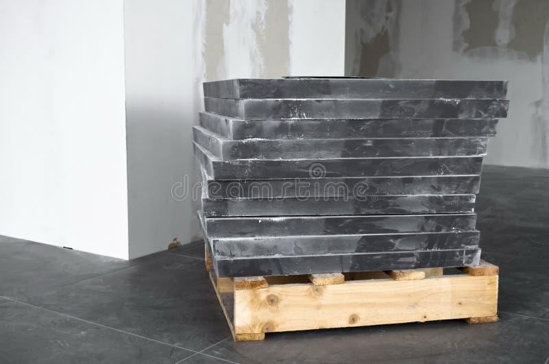 楼层灰色瓦片 图库摄影