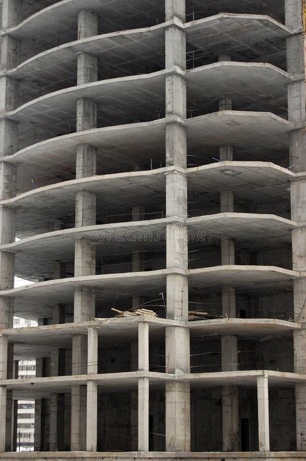 楼房建筑基辅下现代乌克兰 免版税库存照片