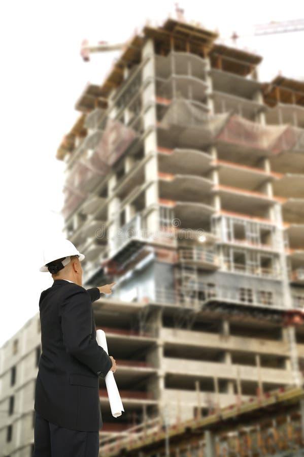 楼房建筑设计员指向 免版税库存图片