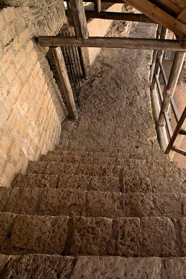 楼梯下降 库存图片