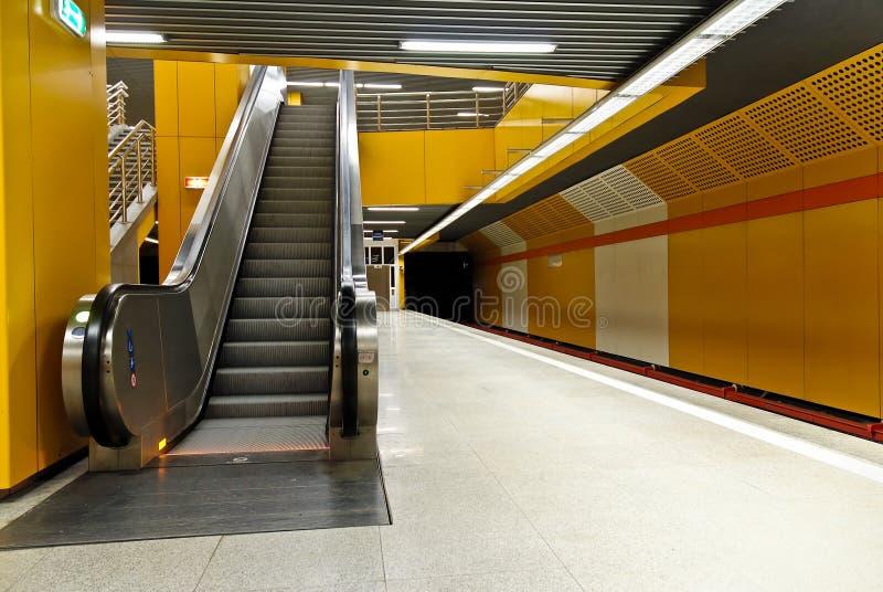 楼梯岗位地铁 免版税图库摄影