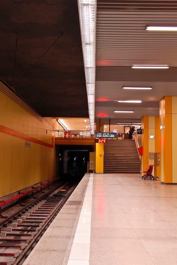 楼梯岗位地铁 库存图片
