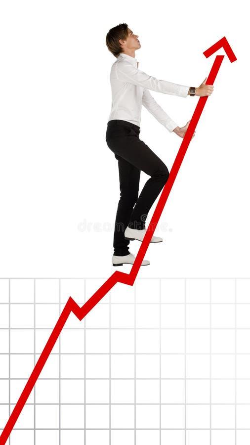 楼梯成功 免版税库存照片