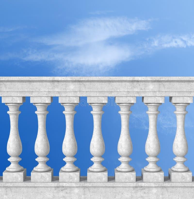 楼梯栏杆柱子 库存例证