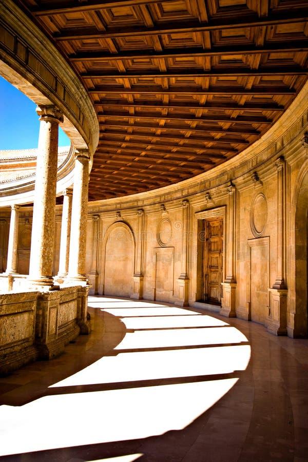 楼梯栏杆格林那达西班牙 库存照片
