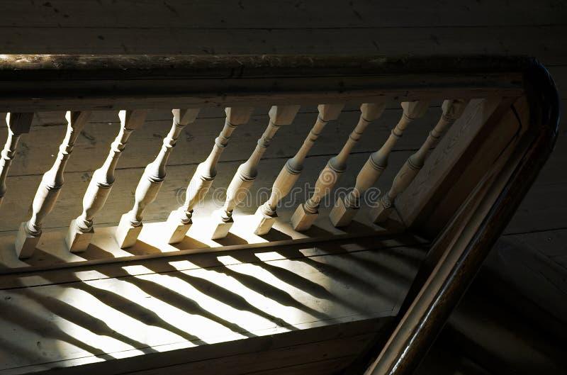 楼梯栏杆 免版税库存图片