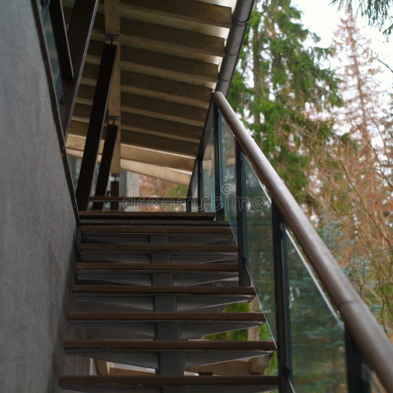 楼梯现代房子外 图库摄影