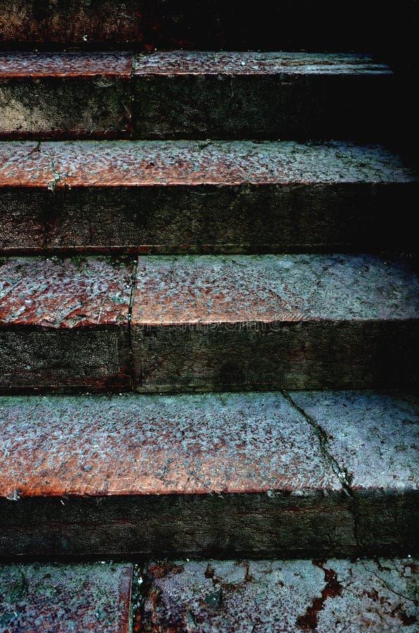 楼梯由石头制成 免版税库存图片