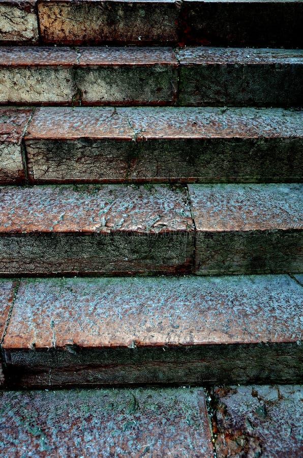 楼梯由石头制成 库存图片