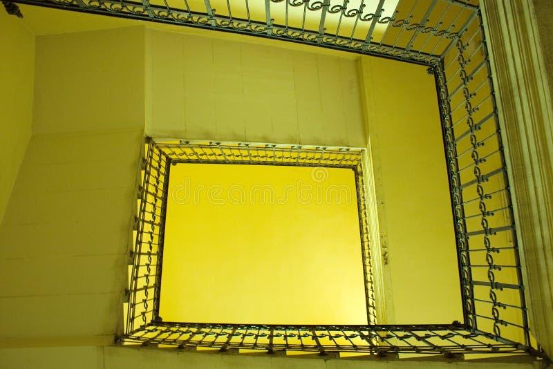 楼梯黄色 库存图片