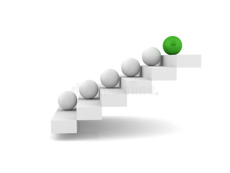 楼梯-步-台阶 向量例证