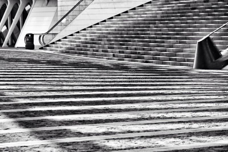 楼梯间的阴影 库存图片