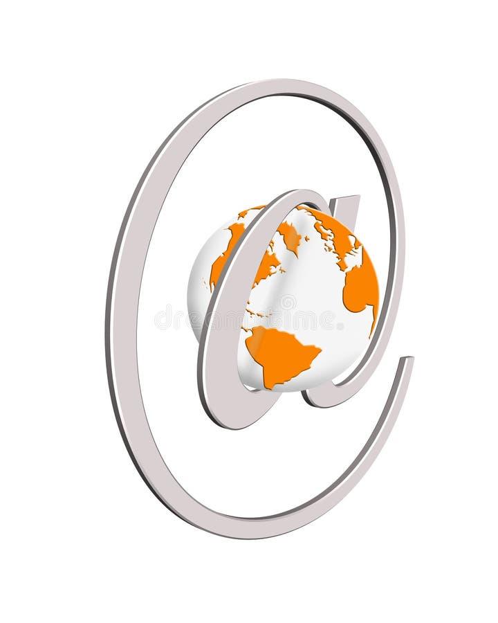 概念万维网宽世界 库存例证