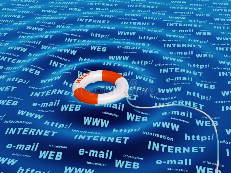 概念互联网 向量例证
